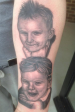 Black and Grey Portrait of customers children