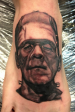 Black and Grey Frankenstein's monster portrait