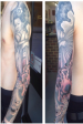 Black and grey Japanese Full sleeve tattoo