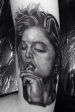 Madonna  Black and grey Portrait tattoo