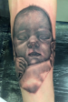 Black and Grey portrait of the customers baby