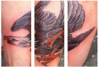 traditional colour eagle tattoo